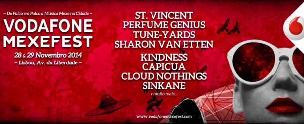 Novas confirmações no Vodafone Mexefest'14